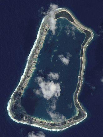 Temoe - NASA picture of Temoe Atoll
