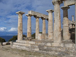 Aphaea - Temple of Aphaia on the island of Aegina.