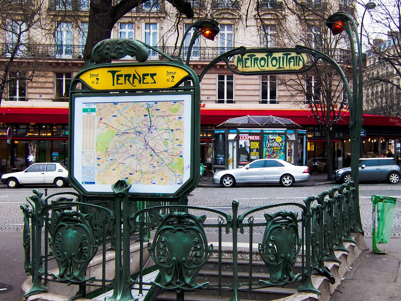 File:Ternes Metro, Paris January 2013.jpg - Wikimedia Commons