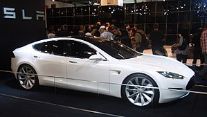 Tesla Model S - Tesla Model S prototype at the 2009 Frankfurt Motor Show