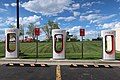 Tesla Supercharger electric vehicle charging station in Gillette, Wyoming.jpg