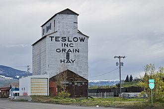 Livingston, Montana - Teslow Grain Elevator, along the railroad tracks