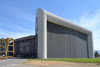 Ames Research Center - One of the air intakes of the 80 by 120 foot wind tunnel (world's largest), located at NASA Ames Research Center.