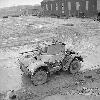 Daimler Armoured Car - 1939 air recognition overhead view