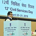 The CEO, NITI Aayog, Shri Amitabh Kant speaking at the Plenary Session on the topic 'Evolving Strategies for Transforming Aspirational Districts', during the 12th Civil Services Day function, in New Delhi on April 20, 2018.JPG