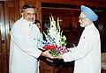 The Chief Minister of Chhattisgarh Shri Raman Singh calls on the Prime Minister Dr. Manmohan Singh in New Delhi on June 5, 2004.jpg