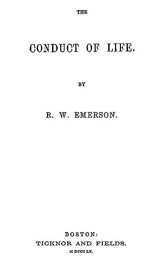 The Conduct of Life - Title page of The Conduct of Life