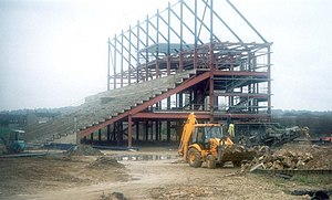 Kassam Stadium - The East Stand under construction in November 2000