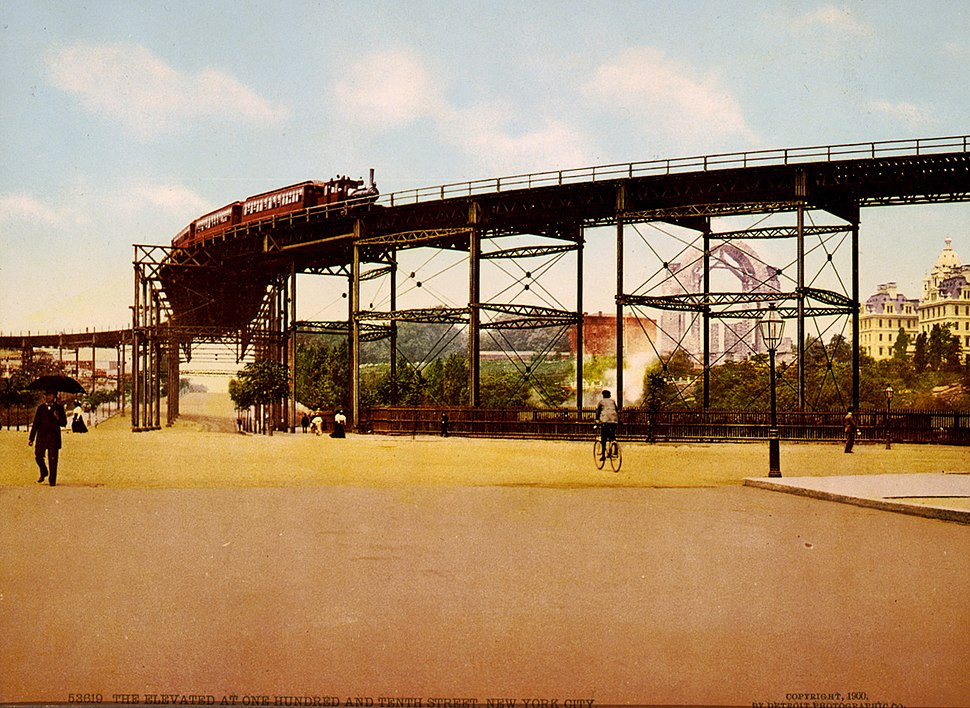The Elevated at 110th Street, New York City, 1900
