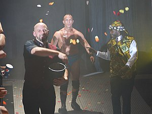 Prince Nana - The Embassy in 2011: Nana (right) with Tommaso Ciampa (center) and Ernie Osiris (left).