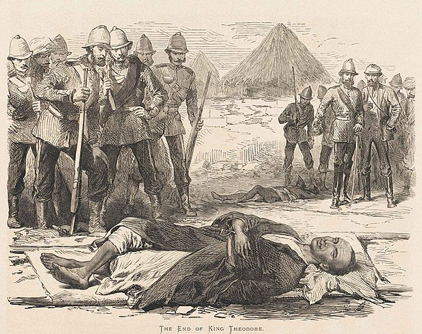 The End of King Tewodros II (The Illustrated London News, 1868) The End of King Tewodros II.jpeg