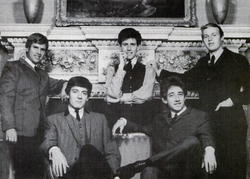 The Hollies in 1964 (L-R: Eric Haydock, Allan Clarke, Graham Nash, Tony Hicks, Bobby Elliott)