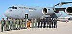 The Indian Air Force Contingent with the Indian Ambassador to Greece, Ms. M. Manimekalai, while staging through Athens, Greece on the return leg from United Kingdom.jpg