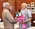 The Lt. Governor of Puducherry, Shri Virendra Kataria calling on the Prime Minister, Shri Narendra Modi, in New Delhi on June 13, 2014.jpg