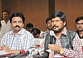 The Minister of State for Social Justice & Empowerment, Shri Ramdas Athawale addressing a press conference, in Hyderabad on July 14, 2018.JPG