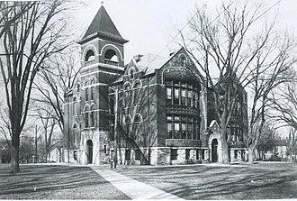 Geneseo, Illinois - The old North Side School, Geneseo, Illinois circa 1900