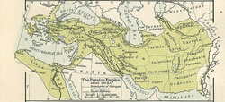 The Persian Empire, about 500 BC; Persis is a central southern province