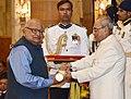 The President, Shri Pranab Mukherjee presenting the Padma Shri Award to Dr. Viharidas Gopaldas Patel, at a Civil Investiture Ceremony, at Rashtrapati Bhavan, in New Delhi on March 30, 2017.jpg
