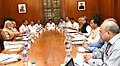 The Prime Minister, Shri Narendra Modi chairing a high level meeting on drought and water scarcity with the Chief Minister of Chhattisgarh, Dr. Raman Singh, in New Delhi on May 17, 2016.jpg