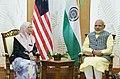The Prime Minister, Shri Narendra Modi meeting the Deputy Prime Minister of Malaysia, Dr. Wan Azizah Wan Ismail, in Kuala Lumpur, Malaysia on May 31, 2018 (1).JPG