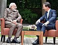 The Prime Minister, Shri Narendra Modi meeting the Prime Minister of Netherlands, Mr. Mark Rutte, at Amsterdam, Netherlands on June 27, 2017 (2).jpg
