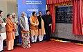 The Prime Minister, Shri Narendra Modi unveiling the plaque to mark inauguration of Botanical Garden-Kalkaji Metro Line at Botanical Garden, in Noida, Uttar Pradesh (1).jpg