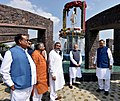The Prime Minister, Shri Narendra Modi unveils the statue of Pt. Deendayal Upadhyay, at Naya Raipur, Chhattisgarh (2).jpg