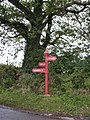 The Red Post, between Chard and Wambrook - geograph.org.uk - 1530197.jpg