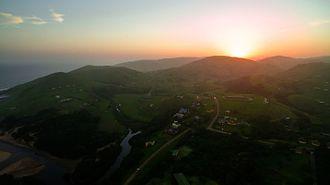Wild Coast Region, Eastern Cape - An aerial view of the Wild Coast at dusk.