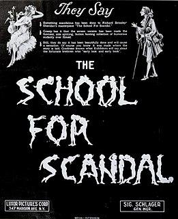 <i>The School for Scandal</i> (1923 film) 1923 film