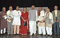 The Speaker, Lok Sabha, Shri Somnath Chatterjee and the Union Minister of Tourism and Culture, Smt. Ambika Soni with the Lalit Kala Ratna Awardees, at a function in New Delhi on September 10, 2007.jpg