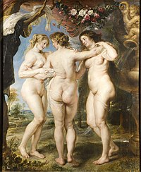 The Three Graces, by Peter Paul Rubens, from Prado in Google Earth.jpg