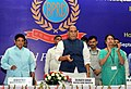 The Union Home Minister, Shri Rajnath Singh launching the 'e-Ustad' Training software, on the occasion of inauguration of new HQs building of Bureau of Police Research and Development (BPR&D), Ministry of Home Affairs.jpg