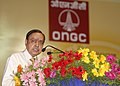 The Union Minister for Petroleum and Natural Gas, Shri Murli Deora addressing at the Golden Jubilee celebration of Lunej Oil Well of ONGC, at Lunej (Cambay Basin) in Gujarat on October 05, 2008.jpg