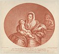 The Virgin seated with the infant Christ sleeping in her lap, Saint Elizabeth at right, an oval composition, after Reni MET DP841773.jpg