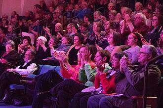 Millersville University of Pennsylvania - A crowd watches a performance at The Ware Center