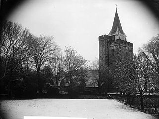 The church, Llangurig, in the snow (May 18, 1891)