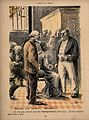 The destitute wait for welfare assistance; an old man is tol Wellcome V0011833.jpg