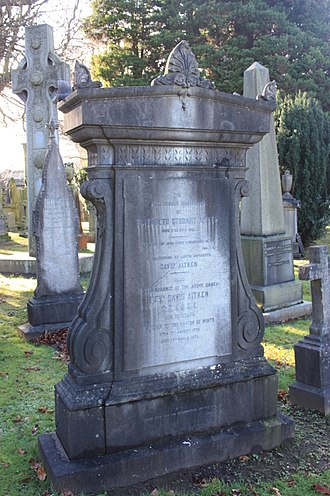 David Aitken (minister) - The grave of Rev David Aitken, Dean Cemetery, Edinburgh