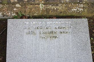 Sir George Dick-Lauder, 12th Baronet - The grave of Sir George Andrew Dick Lauder, Grange Cemetery, Edinburgh