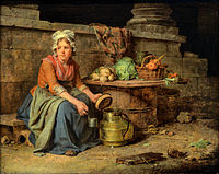 The little milk-girl - Martin Drolling.jpg
