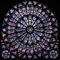 The north transept rose at Notre-Dame de Paris.jpg