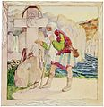 The old man blesses the princess. Illustration by Cecile Walton, 1920..jpg