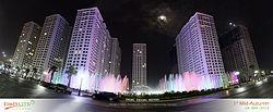 Toàn cảnh nhạc nước khu Quảng trường thời đại Times City tết Trung thu 2013