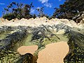The rock and sand of the beach looked like a scale model of alpine terrain… here at Maha'ulepo Beach (8724612719).jpg