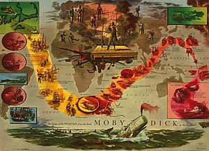 The Voyage of the Pequod from the book Moby Di...