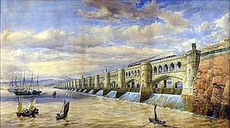Severn Barrage - Thomas Fulljames's own impression of his proposed Barrage