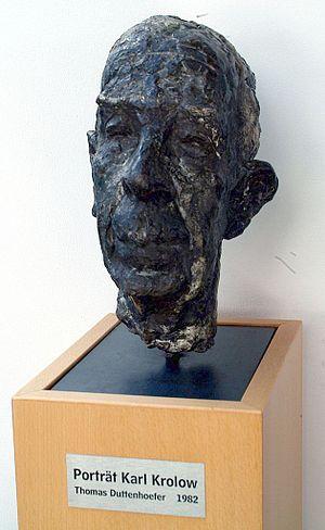 Karl Krolow - Portrait Karl Krolow, 1982 by Thomas Duttenhoefer, Stadtbibliothek Hannover