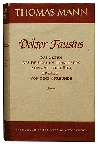 Doctor Faustus (novel) - First edition cover (jacket) in Europe