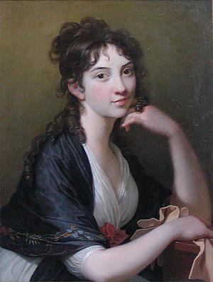 Thomasine Christine Gyllembourg-Ehrensvärd - Painting by Jens Juel, ca. 1790, Frederiksborgmuseet, Hillerød, Denmark